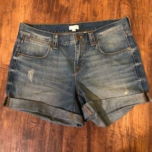 JCREW DENIM SHORTS WITH ROLLED HEMS